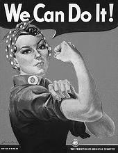 """J. Howard Miller's """"We Can Do It!"""" poster from 1943"""